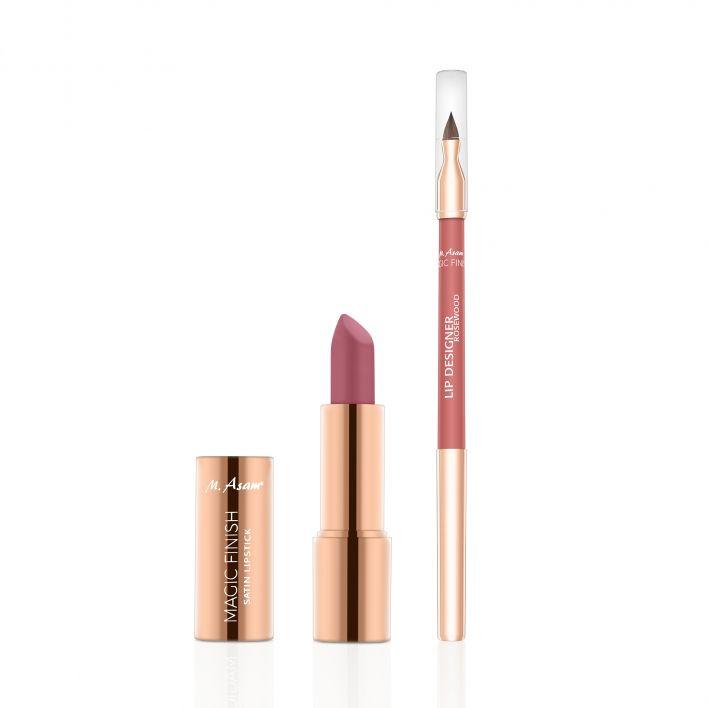 MAGIC FINISH Lip Designer & Satin Lipstick Set Rosewood