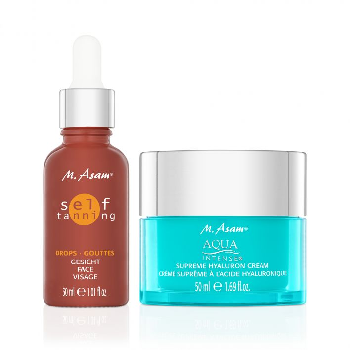 AQUA INTENSE Hyaluron Cream & Self tanning Drops