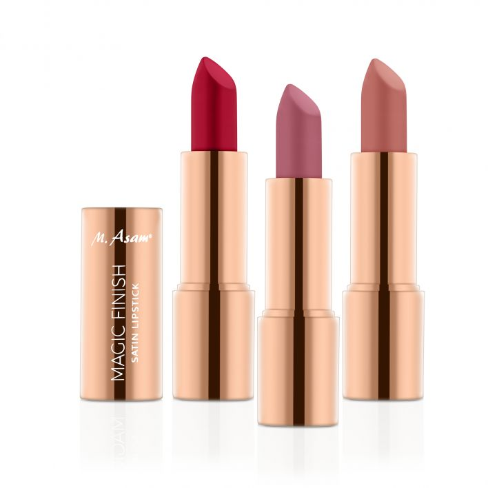MAGIC FINISH Lipstick Trio Rosewood, Almond & Ruby Red