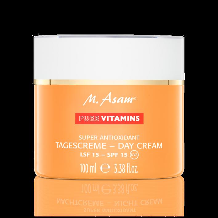 PURE VITAMINS Super Antioxidant Tagescreme mit LSF 15