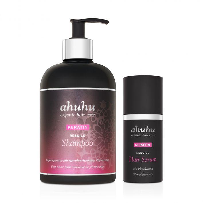 KERATIN Rebuild Shampoo & Hair Serum XXL
