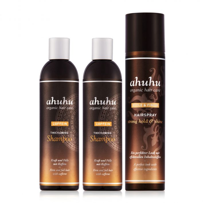 COFFEIN THICKENING Shampoo Duo & Hairspray strong hold