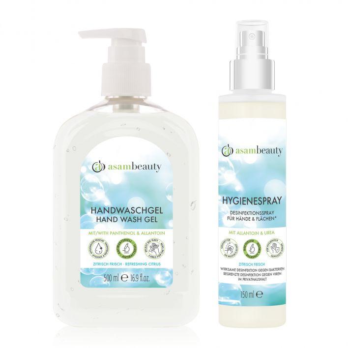 Antibakterielles Handwaschgel & Hygienespray