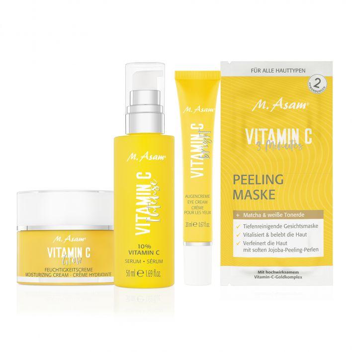 VITAMIN C Serum, Augencreme, Feuchtigkeitscreme & Maske