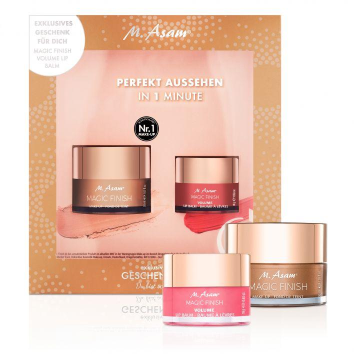 MAGIC FINISH Make-up Mousse & Volume Lip Balm Geschenkset