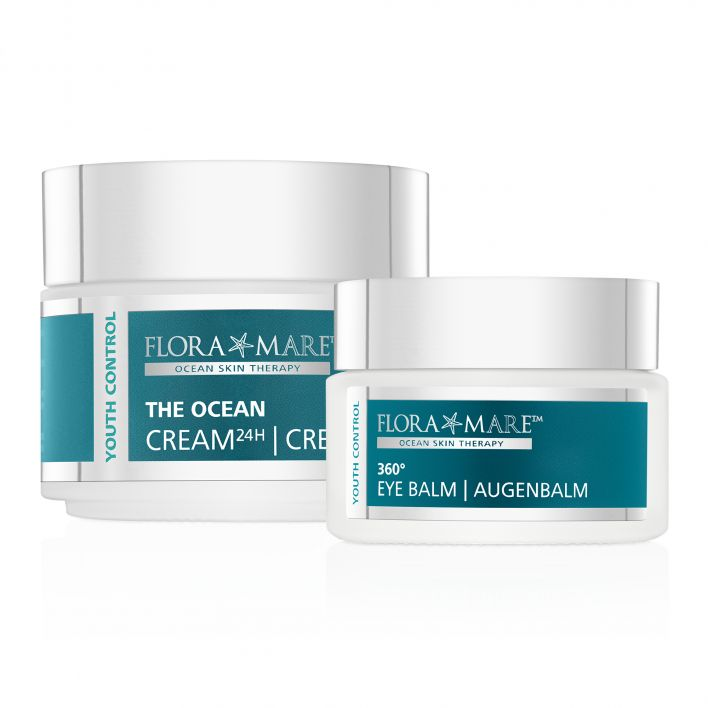 YOUTH CONTROL 360° Augenbalm & The Ocean Creme 24h XXL