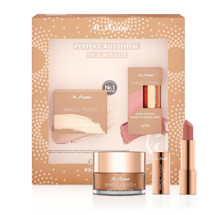 MAGIC FINISH Make-up Mousse & Satin Lipstick Almond