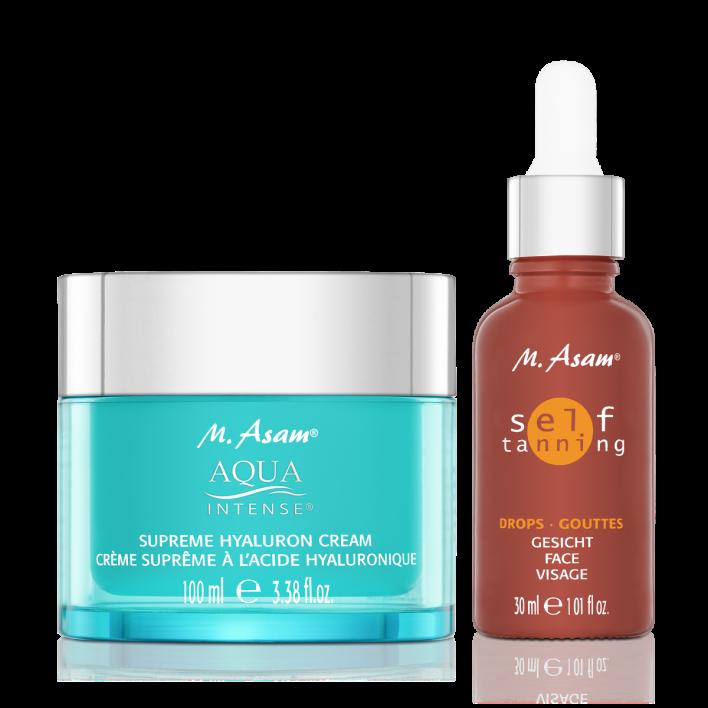 AQUA INTENSE Supreme Hyaluron Cream XXL & Self Tanning Drops