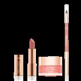 MAGIC FINISH Lip Balm Peachy Orange, Lip Designer Almond & Lipstick Almond