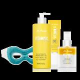 M. Asam VITAMIN C Protect Fluid LSF 30, Shake Orange Serum, Face & Body Gel & Cooling Eye Mask